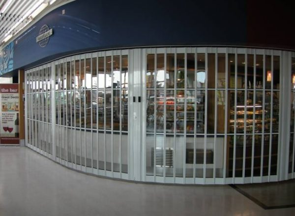 curved shutters for shops