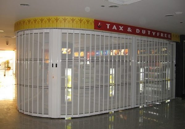 curved roller shutters for shopping malls
