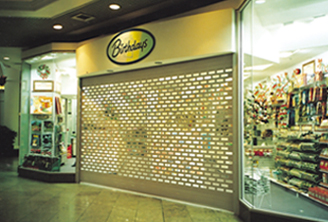 commercial roller shutters for shops punched steel