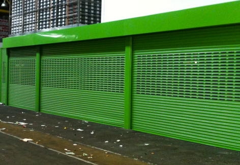 punched steel roller shutters highly secure