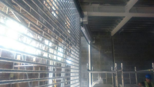 transparent roller shutters for shopping centres